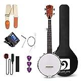 Vangoa 5-saitiges Banjo Remo Kopf