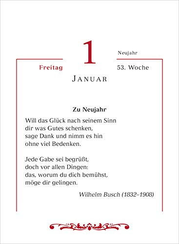 Mit deutschen Gedichten durchs Jahr