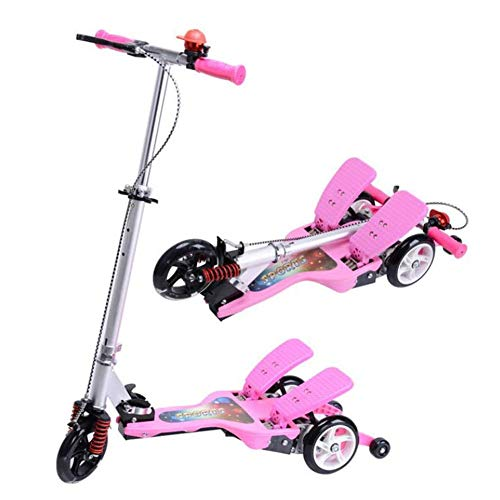 Review Of SZNWJ Three-Wheel Damping Double Pedal Scooter Children's Sports Scooter Emissions Kick Sc...