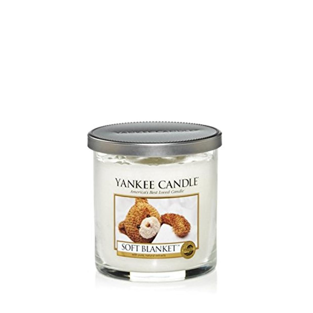 棚修正均等にYankee Candles Small Pillar Candle - Soft Blanket (Pack of 2) - ヤンキーキャンドルの小さな柱キャンドル - ソフト毛布 (x2) [並行輸入品]