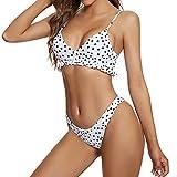 UMIPUBO Sexy Bikini a Fascia da Donna, Bikini Set con Reggiseno e Slip, Bikini Maculato Classica Vintage Perizoma, S-XL Costume da Bagno Due Pezzi per Vestito di Amici da Donna