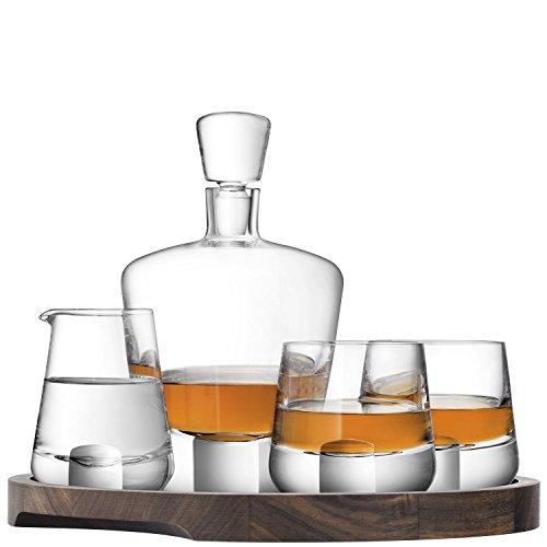 LSA International G1522–00–333 à whisky Coupe Connoisseur Lot et noyer/Plateau de service en liège clair,