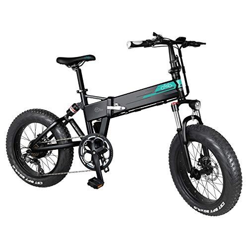 ZS ZHISHANG Folding Electric Mountain Bike 500w 12.8ah Battery Cycling Ebike Folding Electric 20' wheels Adults and Teenagers