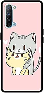 حافظة واقية لهاتف Oppo Reno 3 5G Girls Boys Men Women غطاء خلفي ممتص للصدمات اثنان من القطط الحب