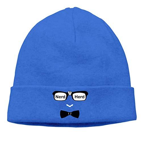 hgfyef Adult Skull Cap Beanie Nerd Herd Knitted Hat Headwear Winter Warm Hip-hop Hat DIY 30788