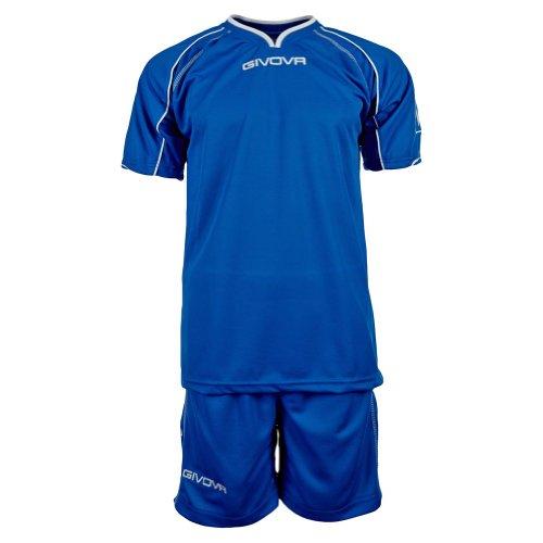 Givova Fußball Set Trikot mit Short Kit Capo , azzurblau