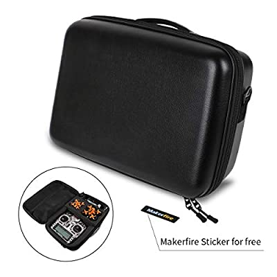 Makerfire Backpack Hardshell Carrying Case Travel Case Drone Storage Box for Tiny Whoop Eachine E010 QX90 QX95, X9D Transmitter Fatshark FPV Goggles Batteries and Battery Charger