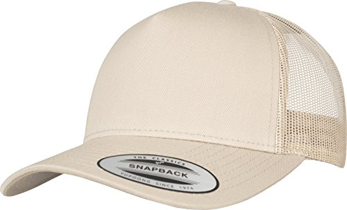Flexfit 5-Panel Retro Trucker Cap Kape, Khaki, one Size