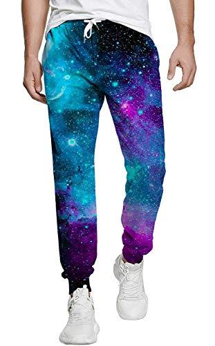 Belovecol Trainingshose für Teenager Jungen Mädchen Funny Hose Lang Galaxy Sporthose Casual Jogginghose mit Taschen