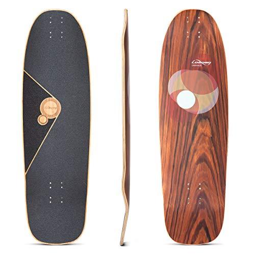 Loaded Boards Omakase Bamboo Longboard Skateboard Deck Roe Graphic