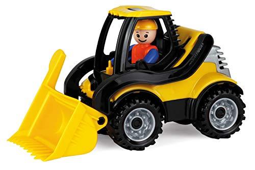 Lena 01622 Truckies Schaufellader, stabiles Baustellen Fahrzeug ca. 22 cm, kleines Spielfahrzeug Radlader für Kinder ab 2 Jahre, robuster Spielzeug Lader für Sandkasten, Strand und Kinderzimmer