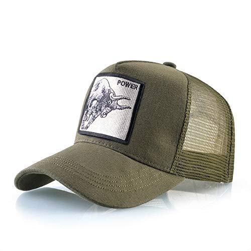 8 Tipos deGorras de bisbol para Hombres Gorras Snapback de Malla Transpirable Unisex Sombrero para el Sol para Mujeres Casquette Hip Hop-Power GN