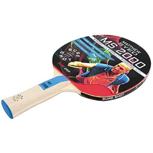 Sure Shot Matthew Syed MS-2000 nietoperz do tenisa stołowego, 1,0 mm guma odwrócona