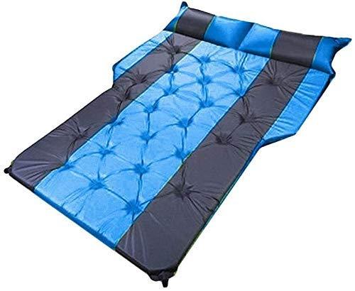 Cama inflable para coche, SUV, colchón para coche, fila trasera, almohadilla para dormir para viaje, cama de aire, colchoneta para camping, color azul