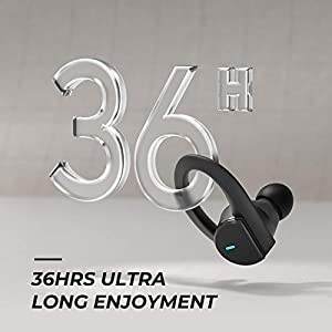 【2020 Newest】 HolyHigh Wireless Earbuds Bluetooth Headphones 5.0 TWS Earphones Deep Bass Sports Earbuds, 36H Playtime with Charging Case, IPX7 Waterproof Wireless Headphones for Running