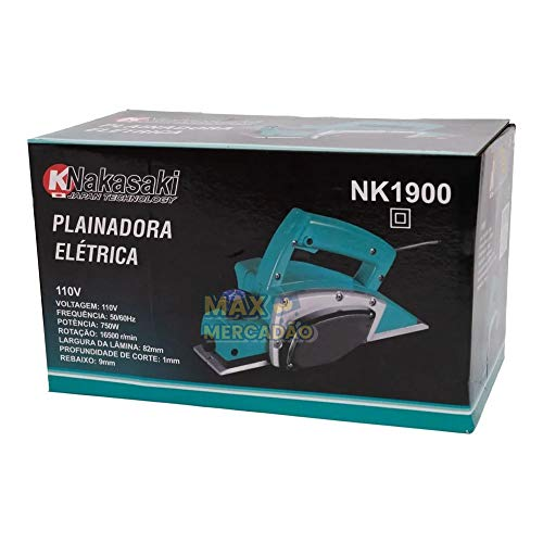 Plaina Elétrica 750W KNakasaki Lamina Dupla (220volts)…
