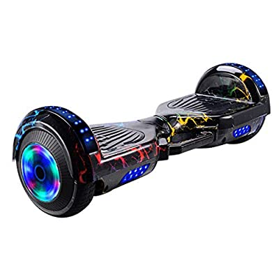 """AmyDong Hoverboard Self Balancing Scooter 7.0"""" Two-Wheel Smart Self Balancing Hoverboard with Bluetooth Speaker and LED Lights Electric Balancing Scooter for Adult Kids Gift"""