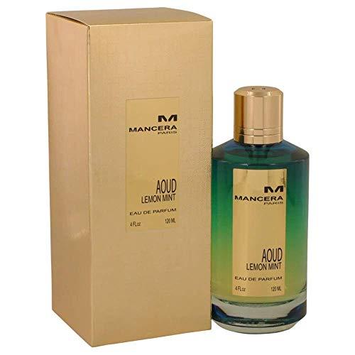 MANCERA Eau de Parfum Spray, Aoud Lemon Mint, 4 Fl Oz