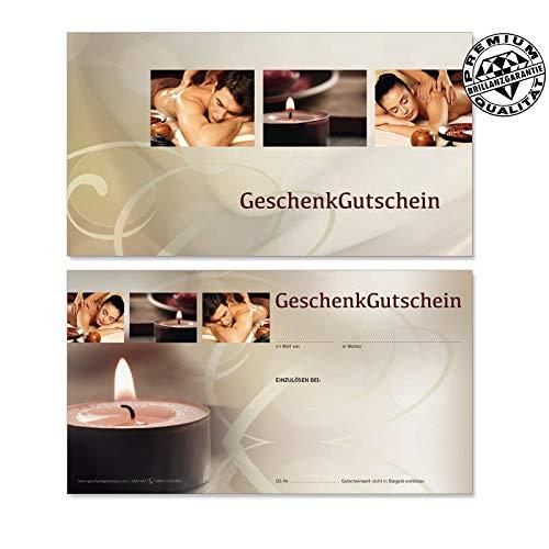 50 hochwertige Gutscheinkarten Geschenkgutscheine. Gutscheine für Spa Kosmetik Naturheilkunde Physiotherapie. Vorderseite hochglänzend. MA1247