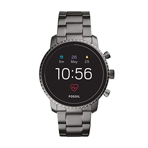 Fossil Gen 4(45mm, Smoke grey) Explorist Leather Touchscreen Men's Smartwatch with Heart Rate, GPS, Music storage and Smartphone Notifications - FTW4012