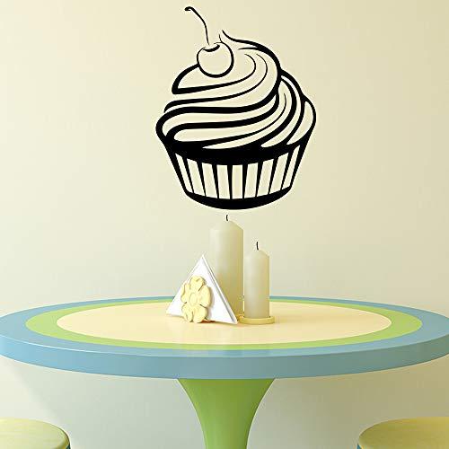 BailongXiao Köstliche Kuchen wandaufkleber Vinyl Kunst kantine Schlafzimmer Dekoration wandbilder abnehmbare Dekoration wandkunst Aufkleber L 43 cm X 54 cm