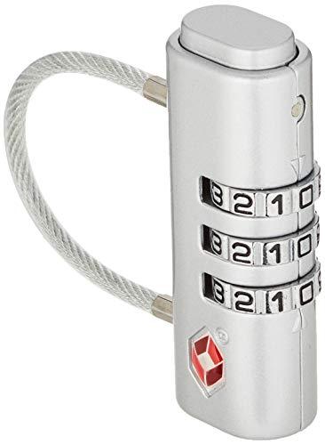 Kipling NEW TSA LOCK Candado para equipaje, 1 cm, litros, Gris (New Silver)