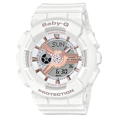CASIO Womens Analogue-Digital Quartz Watch with Resin Strap BA-110RG-7AER