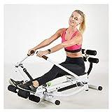 Rameur multifonction hydraulique d'intérieur simple pliable équipement de fitness, aérobie perte de poids muscles...