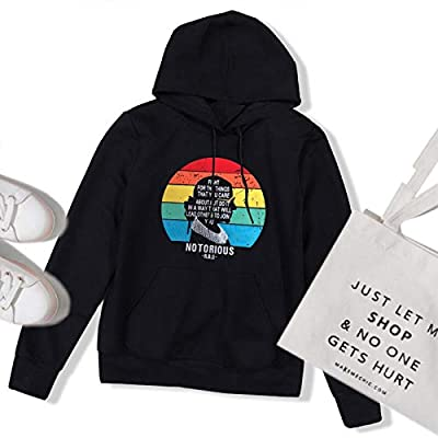 Amazon - Save 60%: Fancyqube Women Notorious RBG Rainbow Graphic Hoodie Fight for…