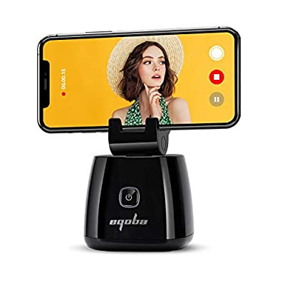 Capture Genie Smart Selfie Stick, 360° Rotation Auto Face Object Tracking Phone Holder, Hands-Free Photo or Video Phone Mount, Live Streaming Vlog Shooting Phone Tripod Stand for iPhone and Android from Rainco