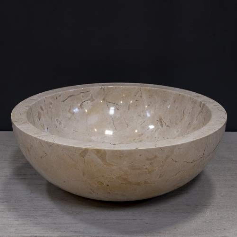 Teako Design Aufsatzwaschbecken Nerva  40 cm aus Marmor