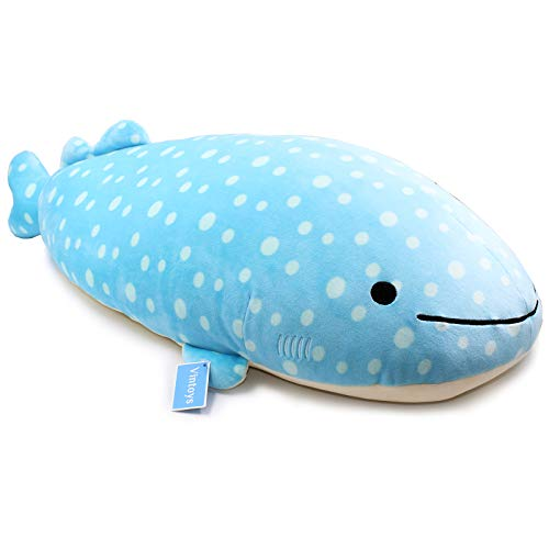 "Vintoys Very Soft Blue Whale Shark Big Hugging Pillow Plush Doll Fish Plush Toy Stuffed Animals 27"""