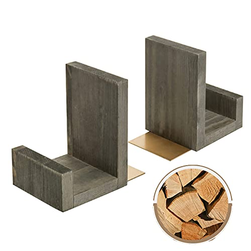 vokiie Book Ends For Desk Decorative Bookends For Shelves, Book Ends Decorative Gold Used In Schools, Libraries, Students, Families