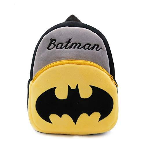 CHDJ Mini mochila de felpa pequeña pequeña pequeña de dibujos animados para bebé niña niño edad 1-3 años, batman (Negro) - shoulder-handbags