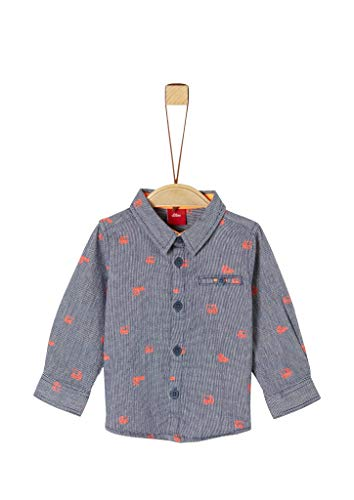 s.Oliver Junior 405.10.004.11.120.2019929 Hemd, Baby - Jungen, Blau 74 EU