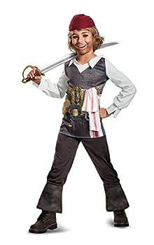 Disguise POTC5 Captain Jack Sparrow Classic Costume Multicolor Medium  7-8