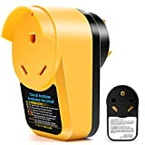 RV Surge Protector 30 Amp, Adapter Circuit Analyzer with Led Indicator Light, 30 Amp Male to 30 Amp Female Surge Protector for RV Camper Trailer (Waterproof Cap Design)