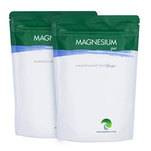 Magnesium Pur - Pulver 2 x 500g Beutel