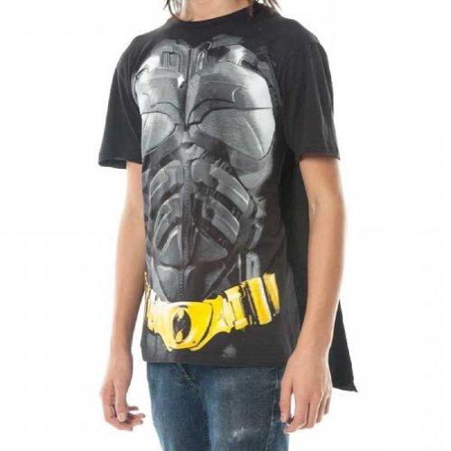 The Dark Knight Dark Knight Batman Mens Black Cape Tee, schwarz, klein