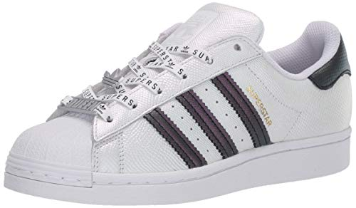adidas Originals Women's Superstar Sneaker, White/Black/Gold Metallic