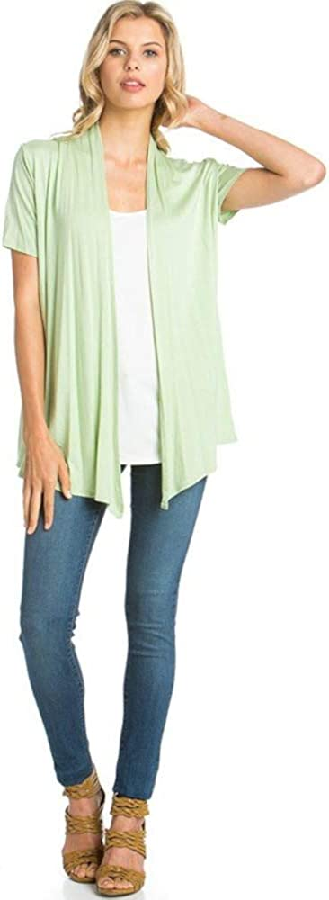 The Simpli Soft Casual Drape Cardigan - Shortsleeve - Made in USA