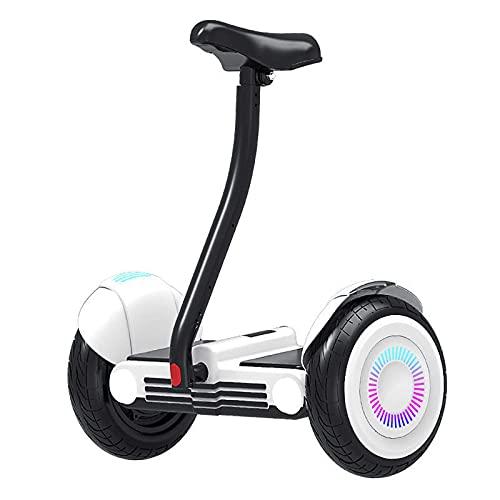 LINQ Bicicleta eléctrica de Balance de Scooter, Bicicleta eléctrica con aplicación Inteligente y música Bluetooth, Bicicleta de Equilibrio Que Puede Sentarse y soportar