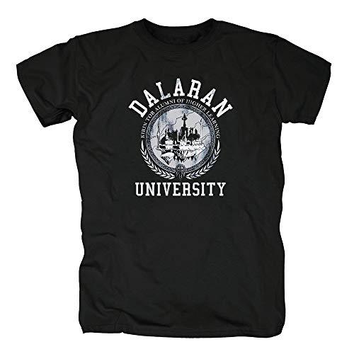 TSP Dalaran University Herren T-Shirt Wow Nerd Gamer M Schwarz