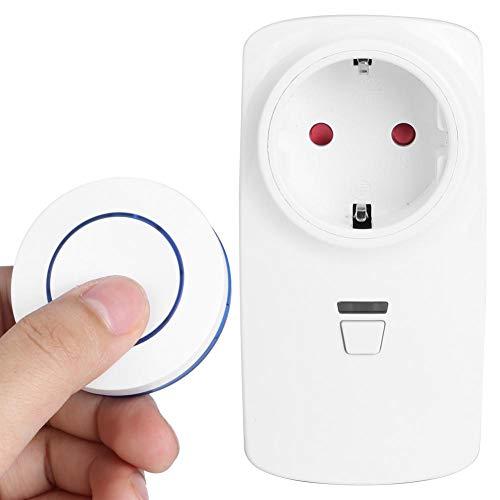 Enchufe inalámbrico, Control Remoto sin Contacto Enchufe Inteligente 2000w Soporte de Carga máxima Autobloqueo Enclavamiento Batería de botón Cr2032 215mah (Incluida)(EU-220V)