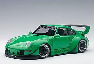 Porsche RWB 993 Green with Gun Grey Wheels 1/18 by Autoart 78151