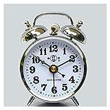 Despertador Reloj de alarma de la primavera de la primavera de la primavera de la primavera de la primavera Barra de la campana de la campana de la vendimia noctilucente Vintage Smart Metal Table Relo