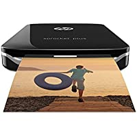 HP 200874 Sprocket Plus - Impresora fotográfica portátil (tecnología de impresión Zink, Bluetooth, fotos  5.8 x 8.6 cm), negro