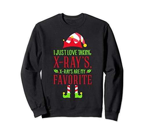 Santas Radiology Elf Sweatshirt, Christmas XRay Tech Gifts