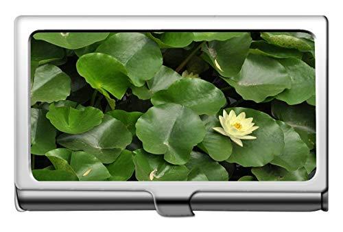 Yanteng Indian Lotus Flower Leaves Nombre de la empresa Titular de la tarjeta Monedero-Lotus Credit Card Id Case/Holder/Cards Case