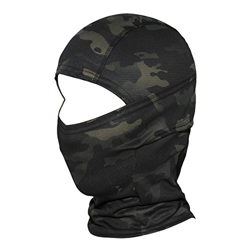 WTACTFUL Camouflage Balaclava Hood Ninja Outdoor Cycling Motorcycle Motorbike Hunting Military Tactical Airsoft Paintball Helmet Liner Gear Wind Dust Sun UV Protection Breathable Full Face Mask SP01